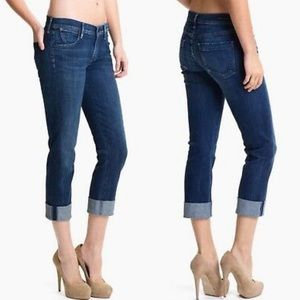 Citizens of Humanity Dani cropped straight leg dark wash jeans size 26